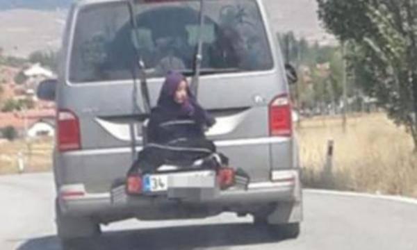 Kızını arabanın arkasına bağlayan şahıs konuştu