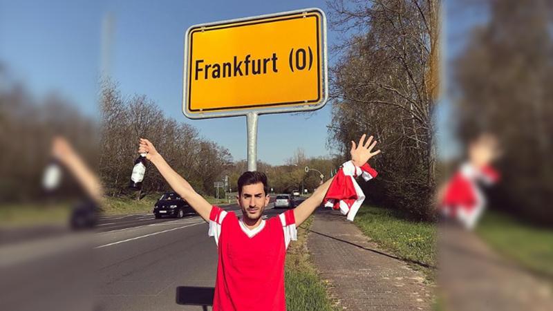 Maça gitmek isteyen taraftar Almanya yerine Polonya'daki Frankfurt'a gitti