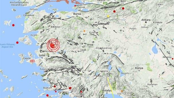Manisa'da art arda depremler panik yarattı!