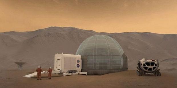 Mars'ta buz evi kuruluyor