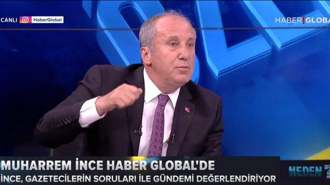 Muharrem İnce: Erdoğan konuşuyor, onun karşısında rakip olmuş birisiyim