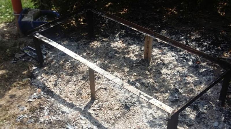 Parktaki kedi evi, içinde kedi varken yakıldı