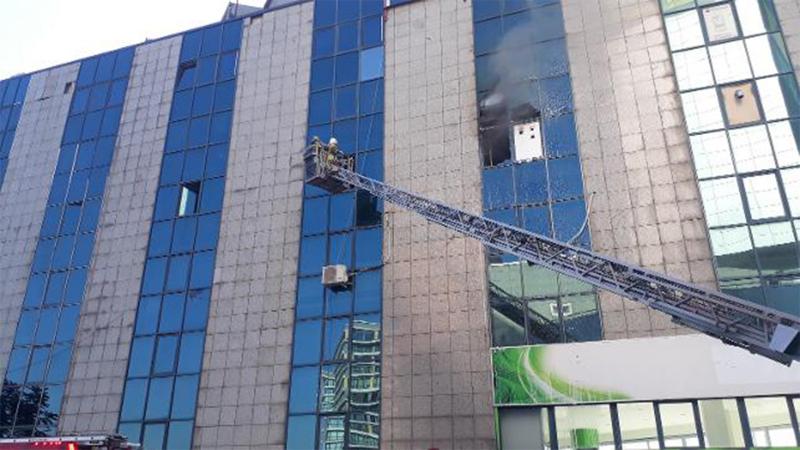 Saadet Partisi'nin bulunduğu binada yangın