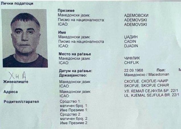 Sedat Peker'in Makedonya'da sahte evrakla yaşadığı ortaya çıktı