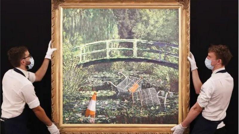 Sokak sanatçısının 'Monet tablosu' 10 milyon dolara satıldı