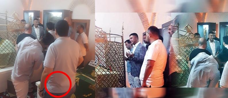 Suç örgütü lideri Sedat Peker'in korumaları Alevi türbesine silahla girdi