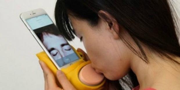 Telefonda gerçekten öpüşmek artık mümkün