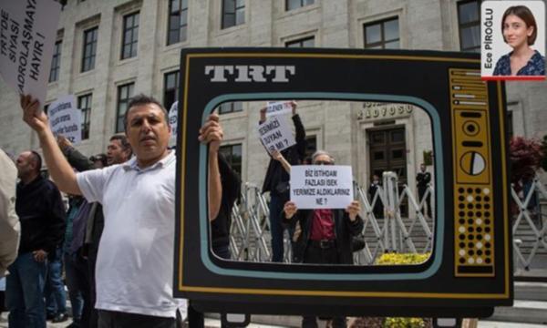TRT çalışanları eylem yaptı