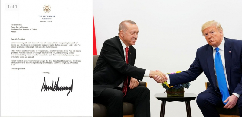 Trump'ın Erdoğan'a yazdığı mektup sızdırıldı: Seni şeytan olarak göreceğim, sert bir adam olma, aptal olma