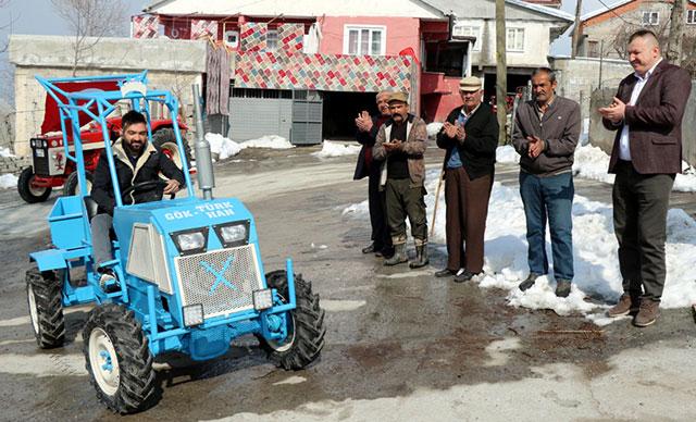 Zonguldak'ta tekne motorundan traktör yaptı