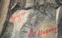 2 bin yıllık anıta 'zalım' yazdı!