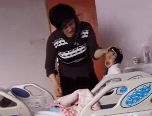 7 aylık hasta bebeğini darp etti