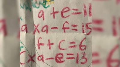 9 yaşında bir çocuk tarafından yazılan denklem sosyal medyanın gündemi oldu