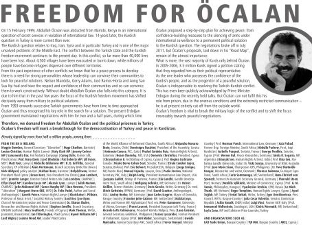 Almanya'daki gazetelere Öcalan'a özgürlük ilanı!