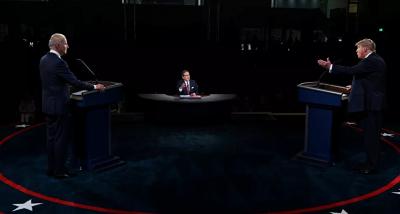 ABD'de başkan adayları TV'de: Biden'dan Trump'a: Çeneni kapar mısın?