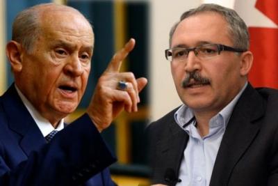 Abdulkadir Selvi'den Devlet Bahçeli'ye: Şerefin ne olduğunu Bahçeli'den öğrenecek değilim