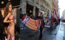 Adriana Lima Taksim'de eylemin ortasında kaldı!