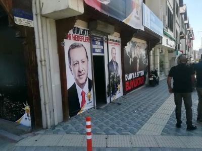 AK Parti seçim merkezi kurşunlandı