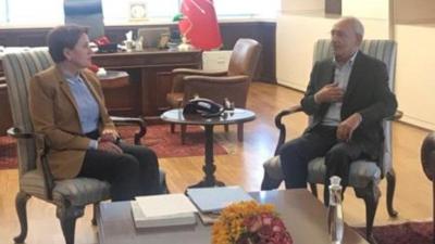 Akşener, linç girişimine uğrayan Kılıçdaroğlu'nu ziyaret etti