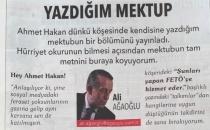Ali Ağaoğlu cevap vermek için Hürriyet'te köşe satın aldı!