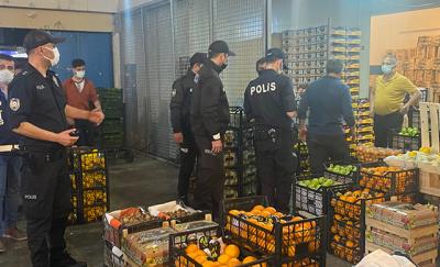 Ataşehir halinde izin belgesiz çalışanlara para cezası