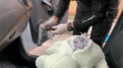 Ataşehir'de oyuncak ayının içine gizlenmiş tabanca bulundu