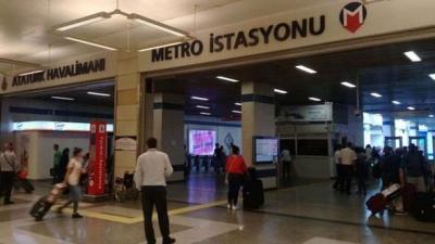 Atatürk Havalimanı Metro istasyonuna yolcu taşımacılığı durduruldu