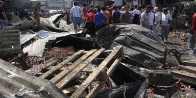 Bağdat'ta halk pazarına bombalı saldırı: 10 ölü