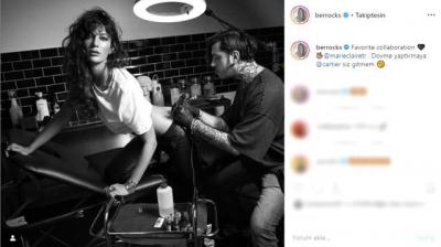 Berrak Tüzünataç, kalçasına dövme yaptırdığı fotoğrafı paylaştı