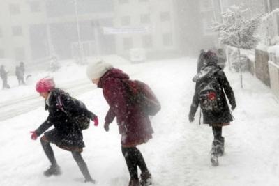 Beş ilde okullara kar tatili