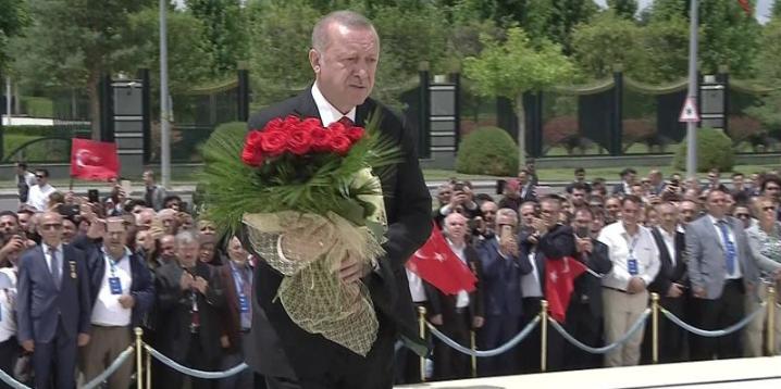 Beştepe'de 15 Temmuz darbe girişimi anması