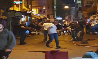 Beyoğlu savaş alanına döndü! Yabancı uyruklu 2 grup arasında kavga