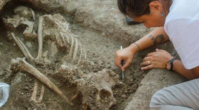 Bilecik'te 8 bin 500 yıllık insan iskeleti bulundu