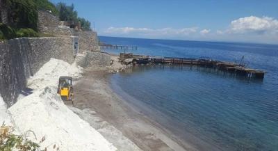Bodrum'da plaja insan sağlığına zararlı 'kuvars tozu' döküldü