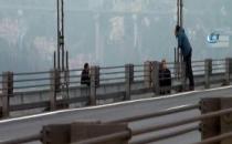 Boğaziçi Köprüsü'nde trafik çift yönlü durduruldu