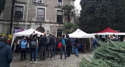 Boğaziçi Üniversitesi protestosu: Öğrencilerin kurduğu çadırı kırdılar