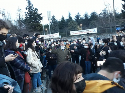 Boğaziçi Üniversitesi öğrencilerinden boykot