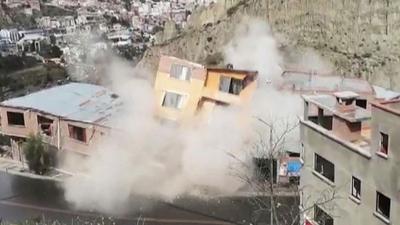 Bolivya'da toprak kayması: 2 kişi kayıp, 64 ev yıkıldı