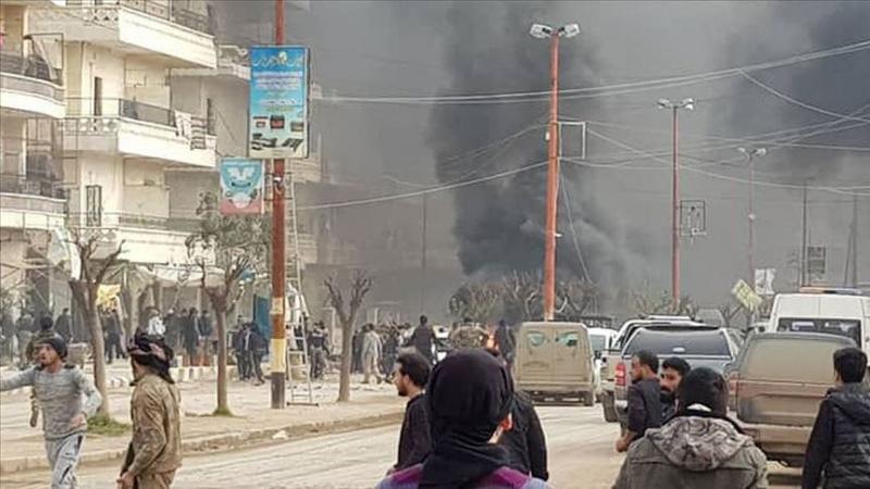 Bomba yüklü aracın patladığı Afrin'de ölü sayısı 13'e yükseldi, 30'dan fazla yaralı var