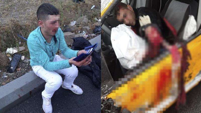 Çaldığı taksiyle polisten kaçarken kolu parçalandı