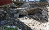 Cami tuvaleti kazısında tarihi duvar çıktı!