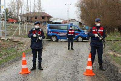 Çankırı'da Aliözü köyü koronavirüs nedeniyle karantina altına alındı