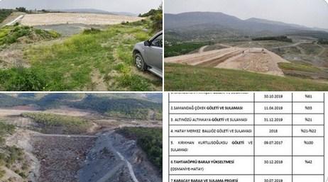 CHP'li vekillerden Erdoğan'a: Bunlar baraj değil gölet