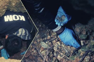 Defineciler kazdı, kaçtı: Polis kral tacı figürlü paralar buldu