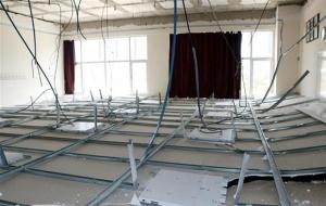 Derste üniversitenin tavanı çöktü! 5 yaralı...