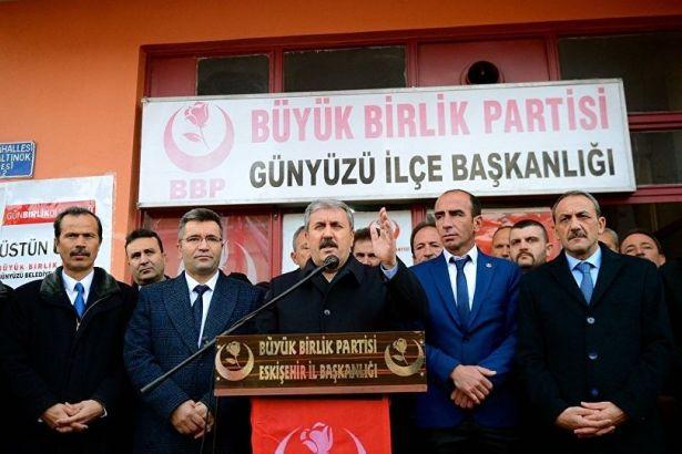 Destici: Avrupa devletleri PKK, PYD ve YPG'ye müsaade etmemeli