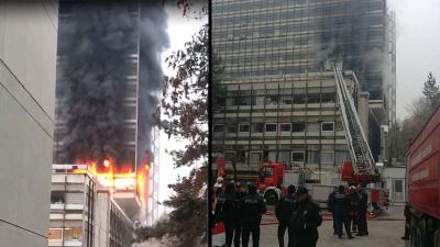 Devlet Su İşleri Genel Müdürlüğü binasında yangın