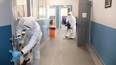 Dezenfekte yapılan okulda 6 öğrenci hastanelik oldu