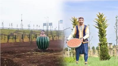 Diyarbakır'da eleştirilen 'karpuzlu çocuk' ve 'tatlıcı' heykelleri kaldırıldı