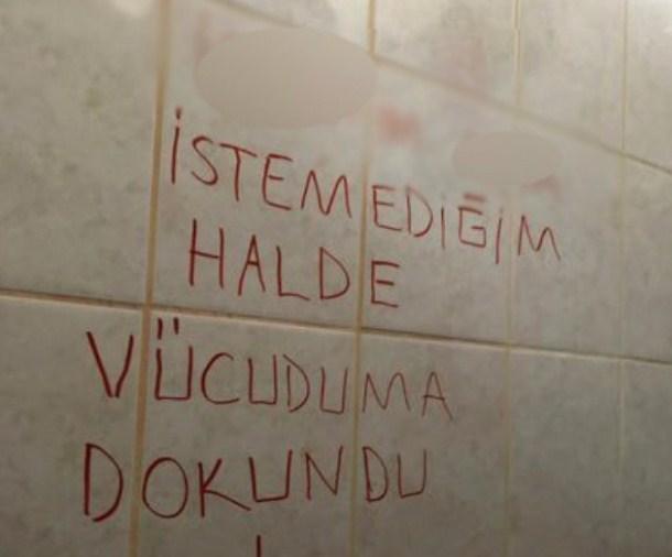 Dokuz Eylül Üniversitesi'nde tuvalet duvarına yazılan yazı kaos yarattı